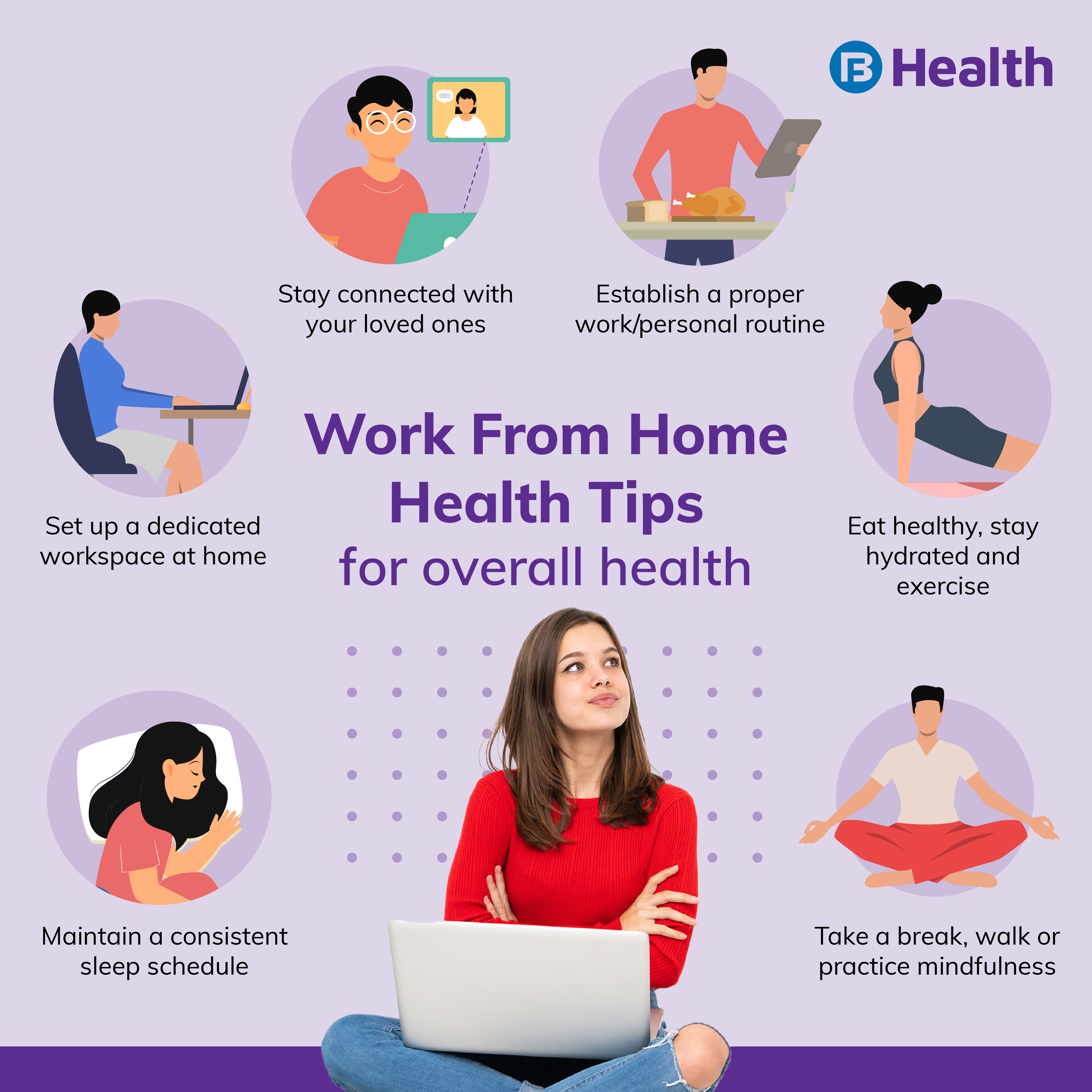 work from home health tips
