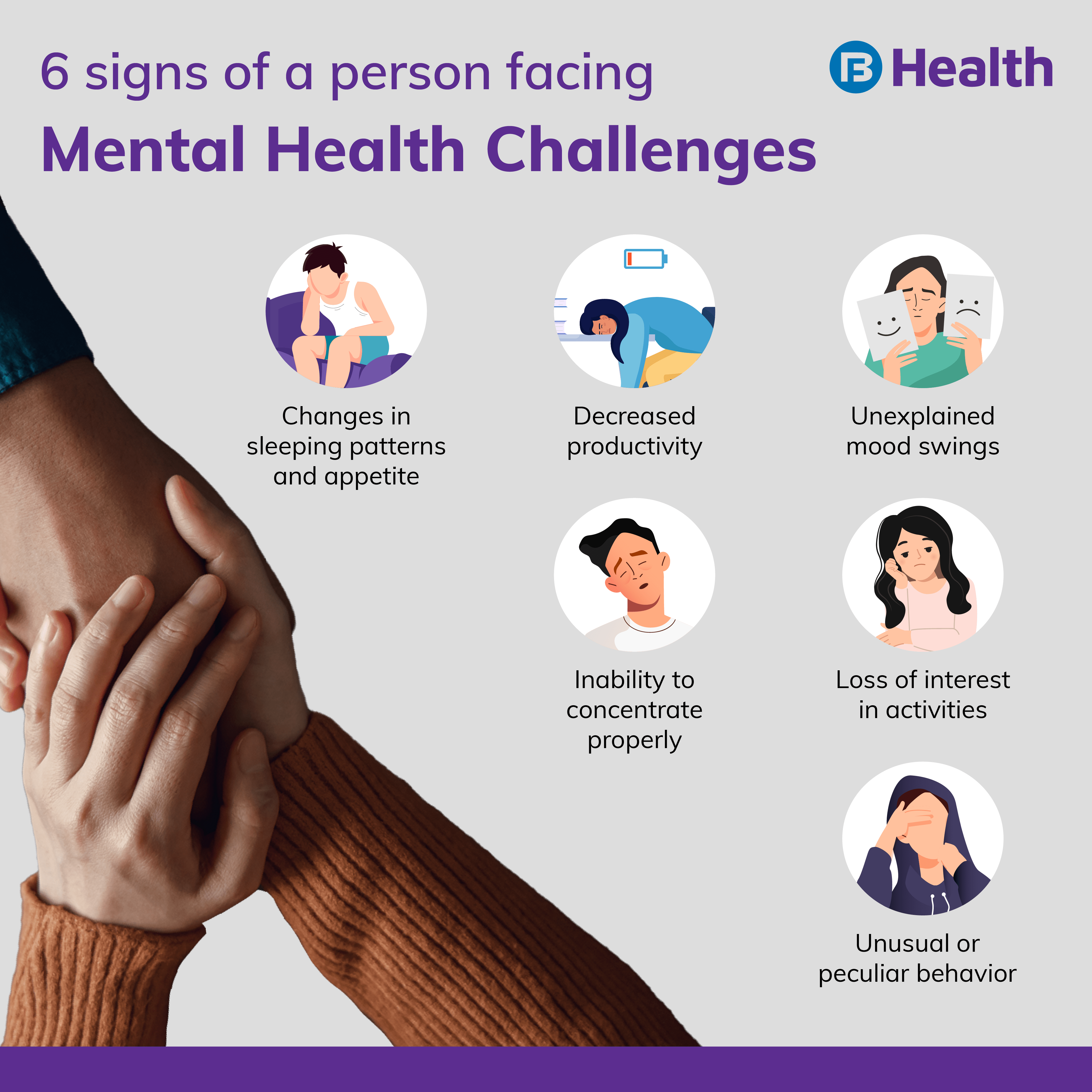 signs of a person with mental health challenge